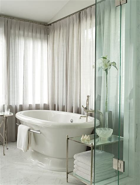 white drapery bathroom curtains home interiors