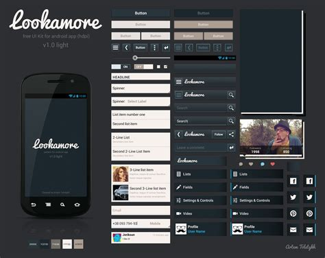 android ui design dribbble lookamore android ui kit realpixel png by artem tolstykh