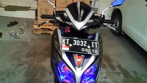 Lu Led New Vario 125 variasi vario 125 fi custom led projie keren