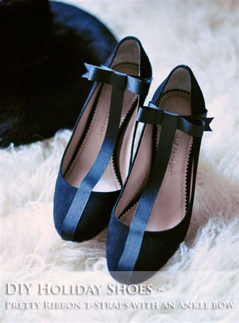 diy pumps shoes diy pretty t straps with ankle bows diy shoes renew