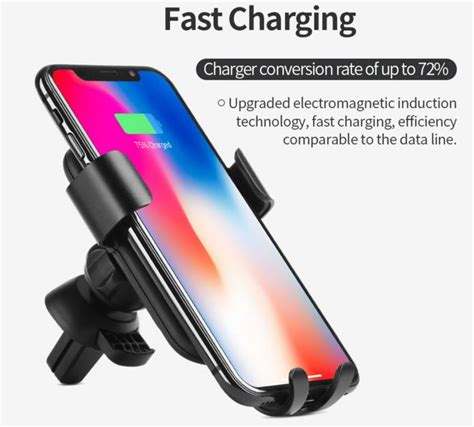 Fast Charge Wireless Charging Samsung Galaxy S8 S8plus universal wireless car fast charger phone holder for