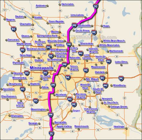 msp map map of mn metro area pictures to pin on pinsdaddy