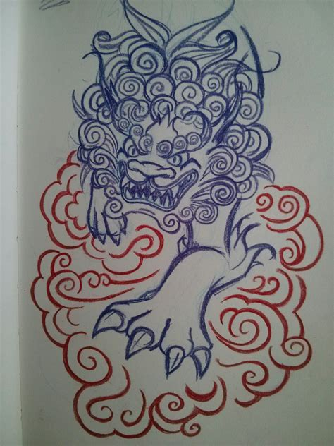 chinese dog tattoos designs i ve been toying with the idea of a fu design
