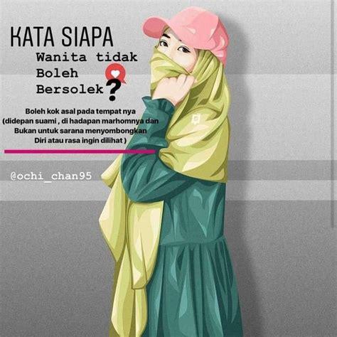 foto kartun muslimah lucu  imut anime wallpaper