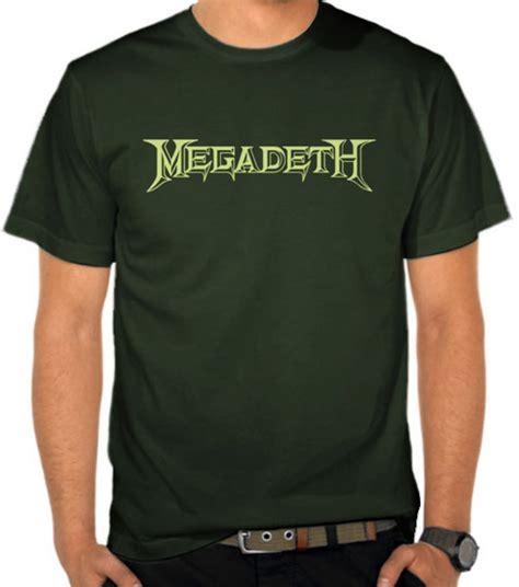 Kaos Megadeth 02 Rock Band jual kaos logo megadeth 2 megadeth satubaju
