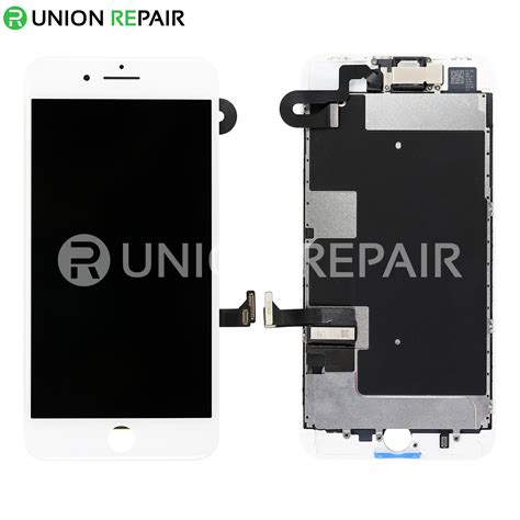 replacement for iphone 8 plus lcd screen assembly without home button white