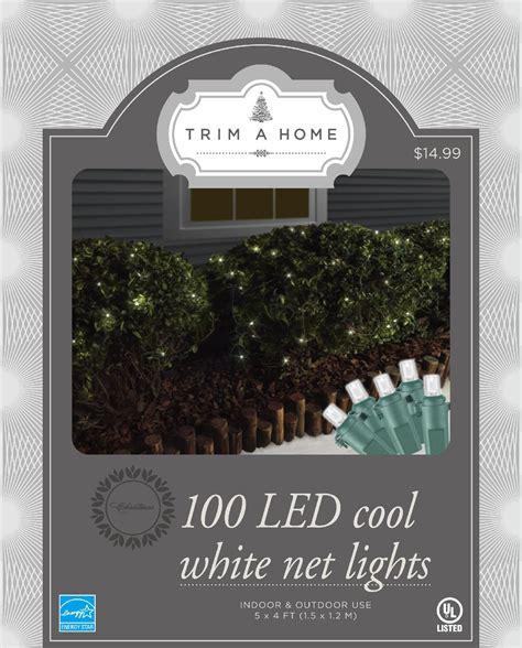 trim a home cool white net christmas lights kmart