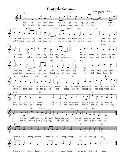 printable lyrics for frosty the snowman free christmas carols gt frosty the snowman free mp3