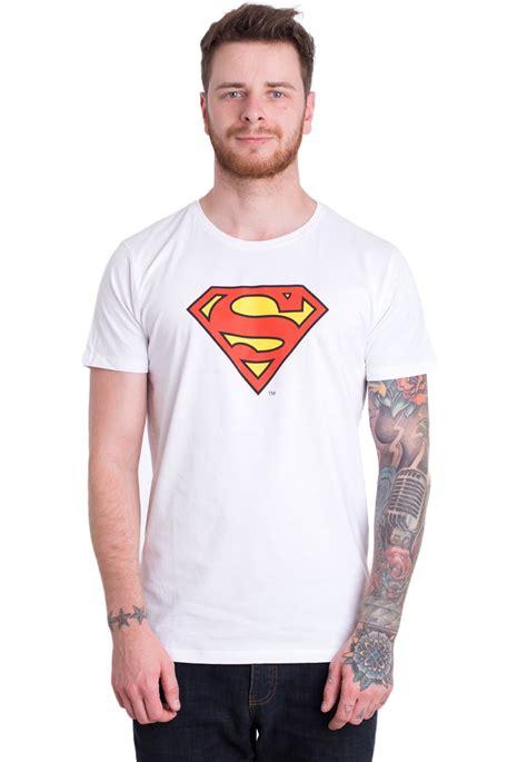 Tshirt Supermen White superman logo white t shirt liveyourmusic it