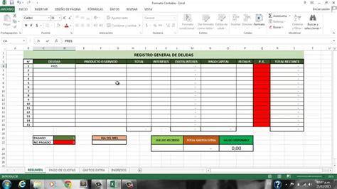 formato para control de pagos tutorial para llevar el control y registro de mis deudas