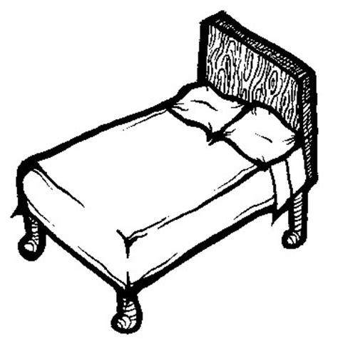 drawing of bed line drawing bed
