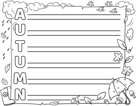 Autumn Acrostic Poem Template Free Printable Papercraft Templates Acrostic Poem Template