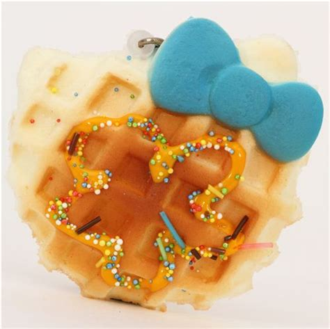 Squishy Hello Waffle hello waffle blue bow squishy charm food squishies