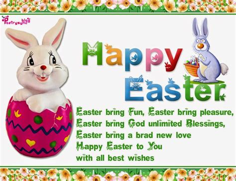 happy easter note happy easter day sms with wishes and greetings image