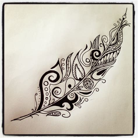 tattoo feather artistic feather tattoo i drew feather tattoo tattoo ideas