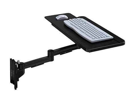 Wall Mount Keyboard Shelf by Wall Mount Track Keyboard Tray With Sliding Mouse Tray