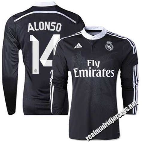 Jersey Real Madrid 3rd Away 1617 Sleeves Cetak Nama Patch s real madrid 14 xabi alonso authentic sleeve shirt 14 15 spain futbol club black