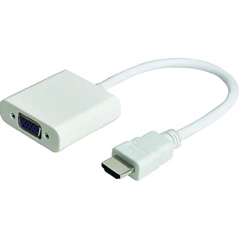 Hdmi To Vga 1 hdmi to vga with audio adapter white syntech