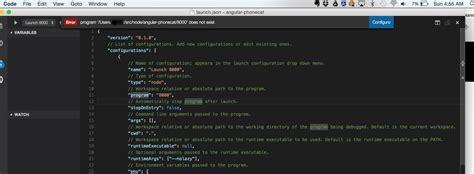 tutorial node js mac angularjs vscode can t start node javascript project in