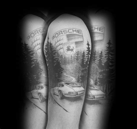 porsche tattoo designs 40 porsche ideas for german automobile designs