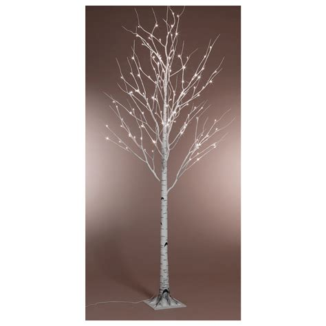 kaemingk pre lit paper birch christmas tree 6ft 1 8m