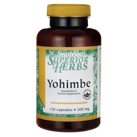 supplement yohimbe yohimbe bark extract 500 mg supplement swanson health