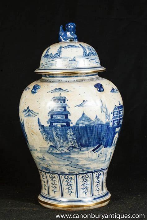 Ginger Jar Vase by Photo Of Single Nanking Pottery Ginger Jar Blue White