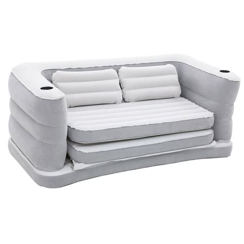 blow up settee bestway inflatable sofa bed inflatable air beds b m