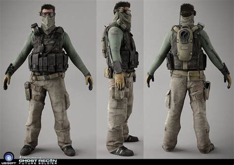 Sweater Armour Keren ghost recon future soldier on behance character design 3d models behance