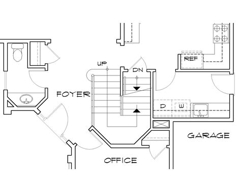 floor plans with stairs floor plans basement stairs middle home building plans