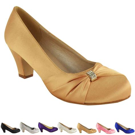 Womens Bridesmaid Shoes by Womens Wedding Bridal Prom Shoes Low Heel