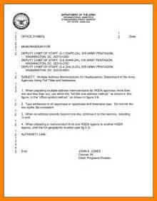 memorandum for record template army 9 army memorandum exles resumes great