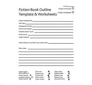book outline template 6 free sle exle format