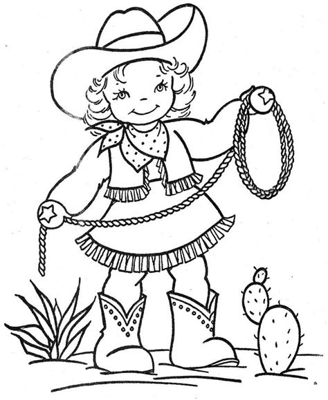 Cowgirl Coloring Page | cowgirl coloring pages to download and print for free