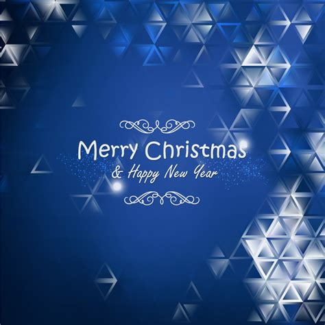 merry christmas blue background freevectors