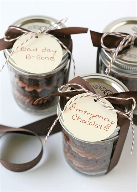 chocolate cupcakes in a jar office christmas gifts and