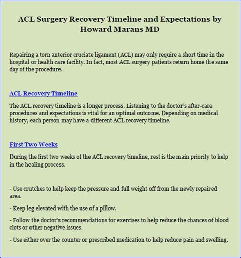 acl surgery recovery acl surgery recovery timeline and expectations thinglink