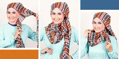 tutorial hijab pashmina corak beauty with hijab tutorial hijab pashmina tribal sederhana