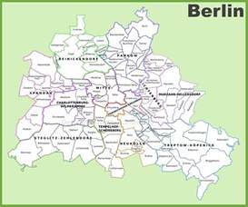 berlin map of germany berlin districts map