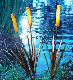 Solar String Lights Outdoor Lowes - 3 solar cattail spike light yard stake water garden pond landscape li