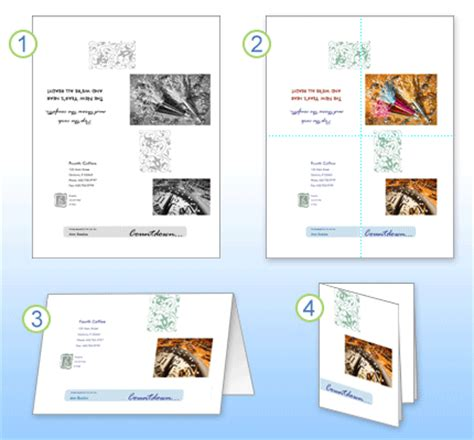 quarter fold card template publisher celebrate the holidays by using publisher greeting cards
