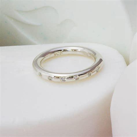 sterling silver gem set tension ring by anthony blakeney