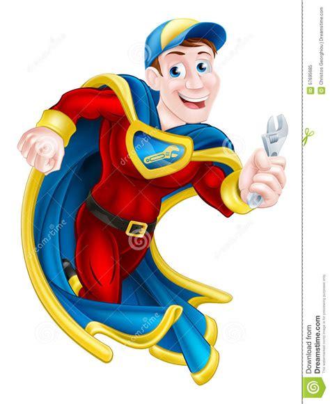 Mascot Plumbing by Plumber Or Mechanic Stock Vector Image 57695685