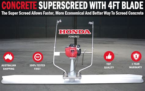honda powered concrete superscreed  ft blade