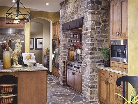 stone kitchens design create a rustic kitchen design with the help of stone veneers