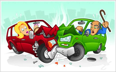 cartoon car crash woman injured in accident at hamlet and palmer