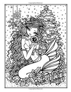 enchanted halloween a whimsy amazonsmile a whimsy girls christmas coloring book festive girls fairies more