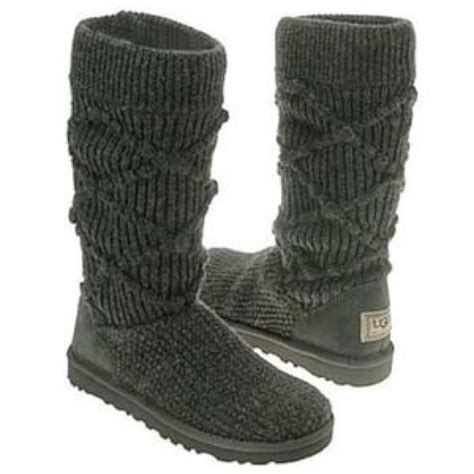 gray knit uggs 53 ugg shoes gray argyle knit uggs from s