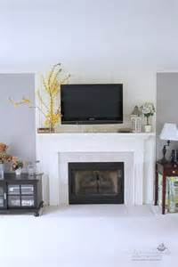 mount tv above fireplace hide wires decorating a mantel with a tv above meadow lake road