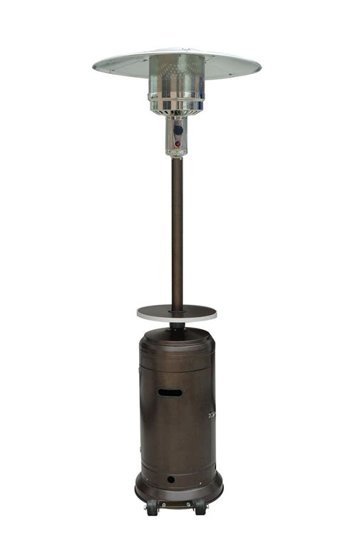 patio heater stand up bronze